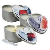 Earthly Body 3 in 1 Edible Massage Heart Candle-Strawberry