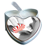 Earthly Body 3 in 1 Edible Massage Heart Candle-Peach