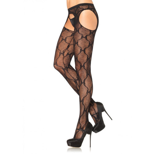 Leg Avenue Lace Suspender Pantyhose