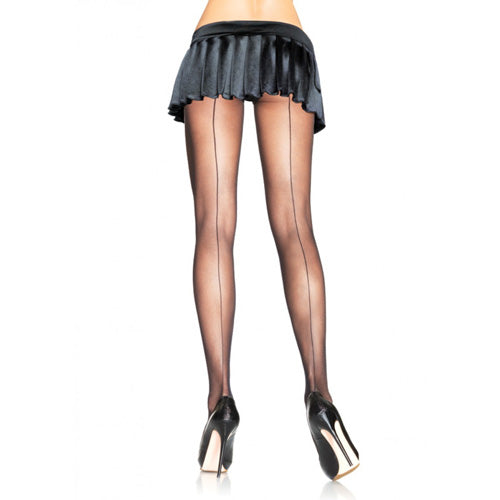 Leg Avenue Backseam Sheer Pantyhose-Black