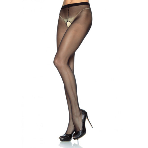 Leg Avenue Plus Size Crotchless Pantyhose