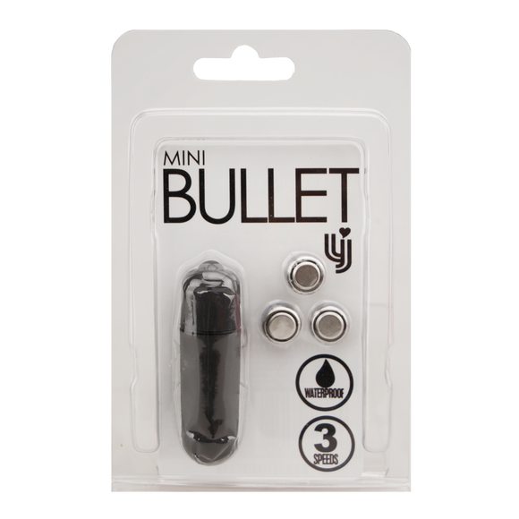 Loving Joy 3 Speed Mini Bullet Vibrator - Black
