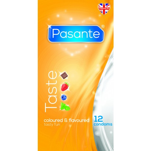 Pasante Flavours Condoms-12 pack