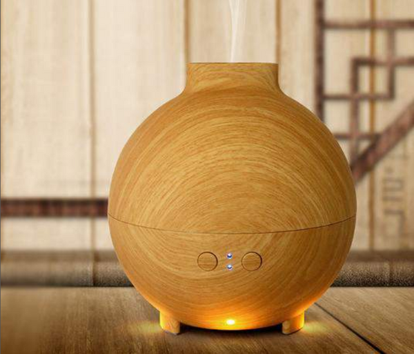 Econat 20 Fl Oz (600 ml) Essential Oil Aroma Diffuser in Brown