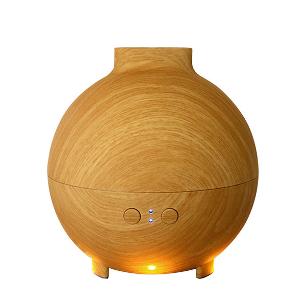 600 ml Cool Mist Humidifier Ultrasonic Essential Oil Diffuser for Office, Home, Yoga, Spa - Wood Grain