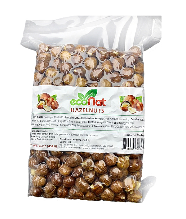 Econat Raw Hazelnuts, 16 oz (2 pcs)