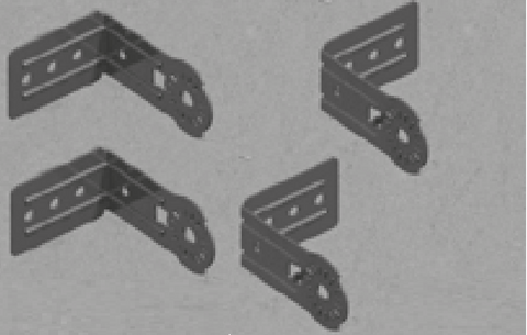 UFO Infrared Heater Brackets (4 pieces)