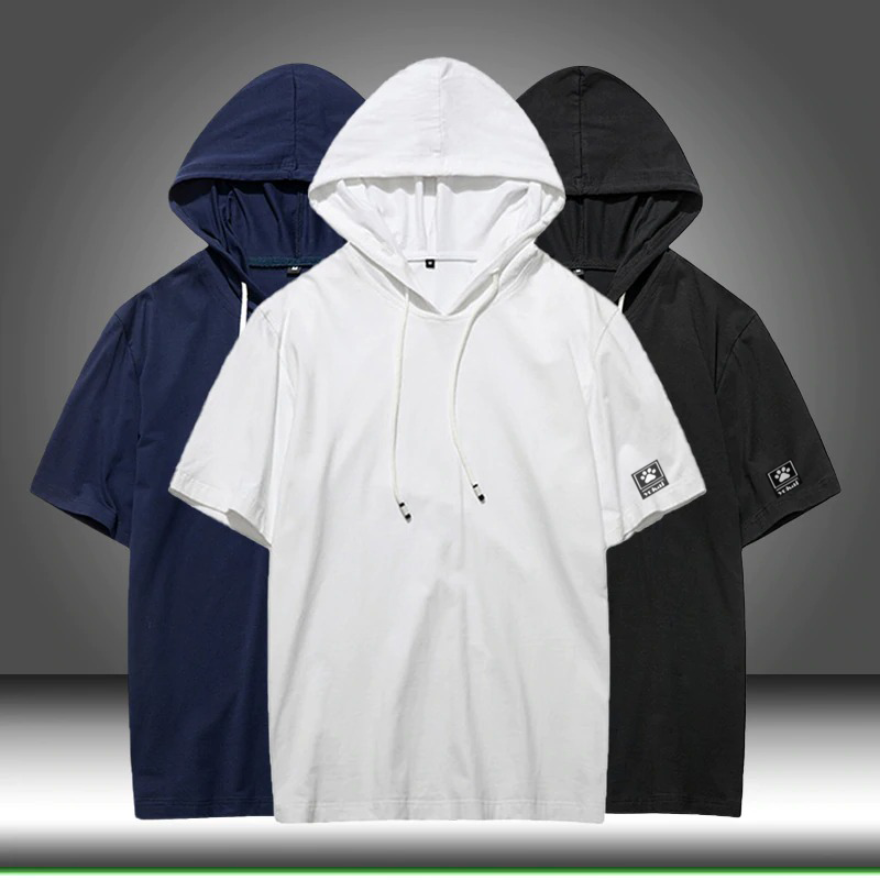 Yokai Men Hooded Half Sleeve Mens T-shirt Hoodie - brandyokai