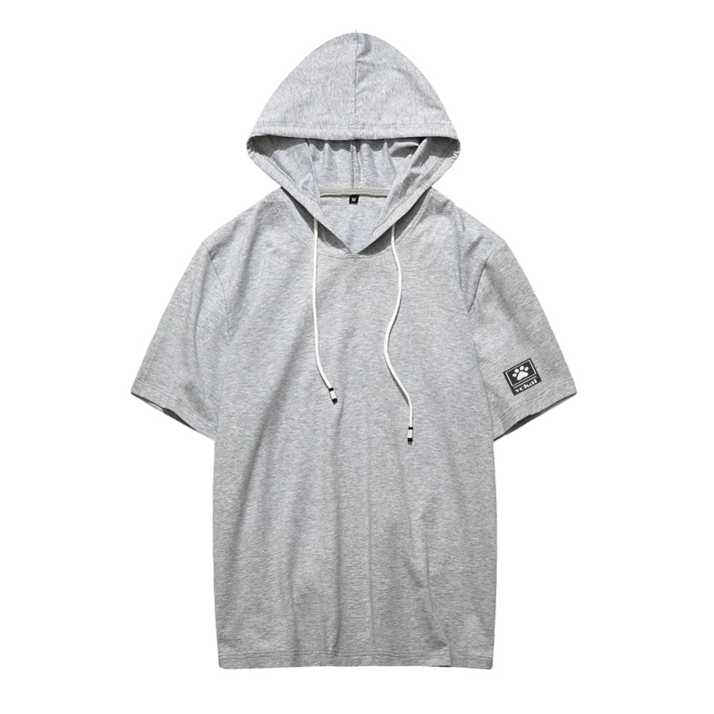 Yokai Men Hooded Half Sleeve Mens T-shirt Hoodie