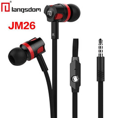 Original Langsdom JM26 In Ear Earphone Wired 3.5mm Sport Headset Bass Stereo Music Earphones with Mic for Iphone Samsung XiaoMi - astore.in