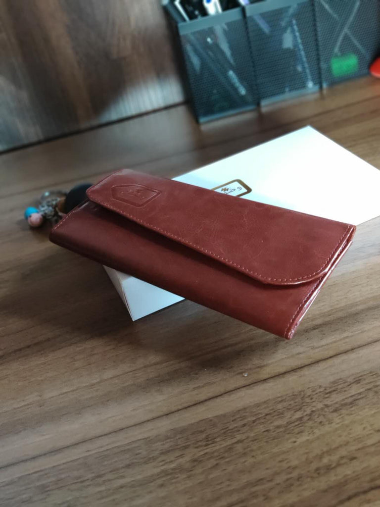 Wuzmal Hand Wallet for Women - Brown - astore.in