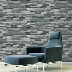 Blue Stone Design Wallpaper Roll - astore.in