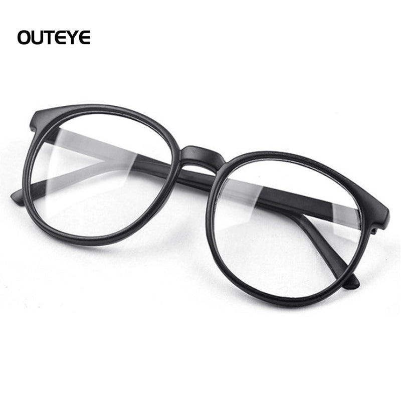 OUTEYE  Men/ Women Vintage Glasses Round Large Optical Frame Unisex Eyeglass Clear Lens - astore.in