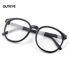 OUTEYE  Men/ Women Vintage Glasses Round Large Optical Frame Unisex Eyeglass Clear Lens