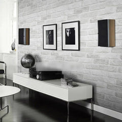 Wallpaper PVC 3D Brick grey white foam thick vinyl 54.15 square feet waterproof - astore.in
