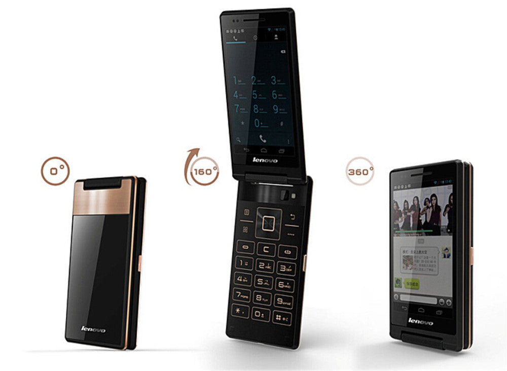 Original Lenovo Android Business Flip Phone Antique A588T 4GB ROM Dual Sim - astore.in