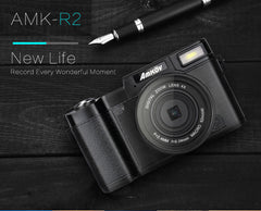 Amkov 24 MegaPixel Digital Camera With Wide Angle Lens Flash HD Recording - astore.in
