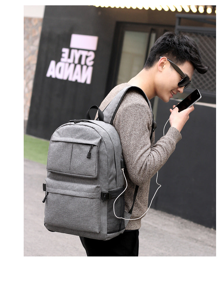 RYUGA Korean Fashion Unisex Backpack with USB CHARGE Port - astore.in