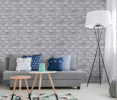 HaokHome Vintage Brick Stone Design Wallpaper Roll PVC roll