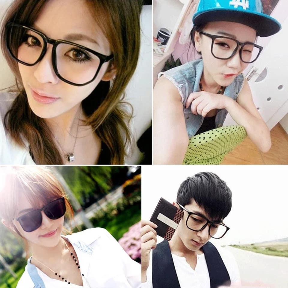 Big Square Fram Lense For men and Women Nerd Glasses - astore.in