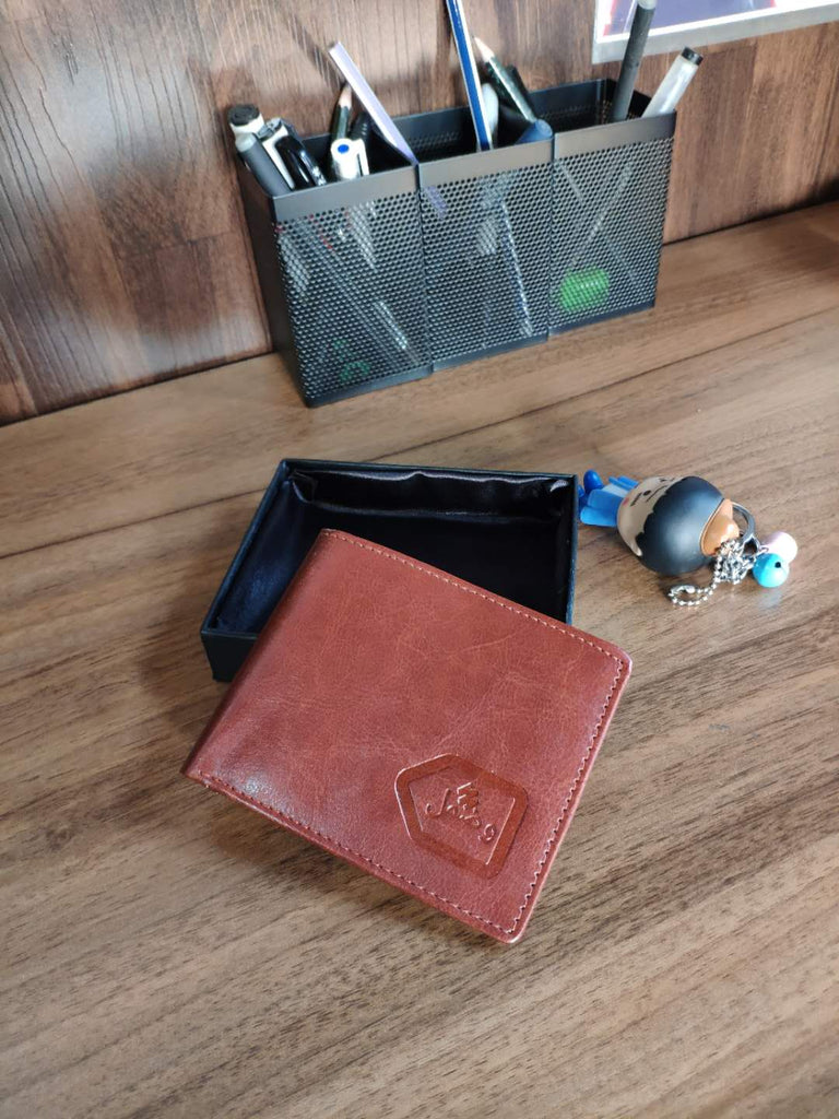 Wuzmal Slim Wallet for Men - Black/ Brown - astore.in