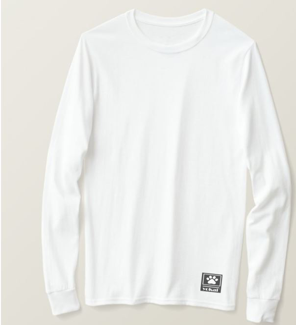 Yokai Casual Men's Cotton Long-sleeved T-shirt White - brandyokai