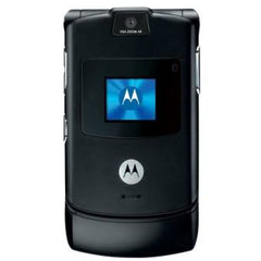 Motorola V3 Razr black Flip Mobile phone - astore.in