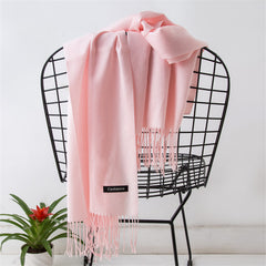 Luxury Women Cashmere Solid Scarf Summer Thin Pashmina Shawls and Wraps Female Foulard Hijab Stoles Head Scarves - astore.in