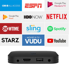 Xiaomi Mi Box S Android TV with Google Assistant Remote Streaming Media Player - Chromecast Built-in - 4K HDR - Wi-Fi - 8 GB - Black - astore.in