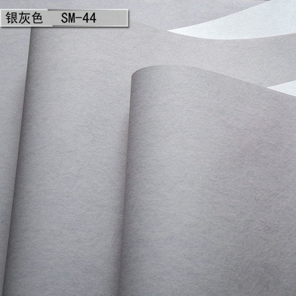 Wallpaper Modern Solid Color Nonwoven Living Room Plain Roll - astore.in