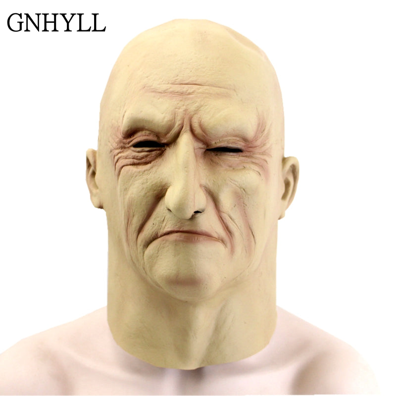 Realistic Latex Old Man Mask Male Disguise Halloween Cosplay Prop - astore.in