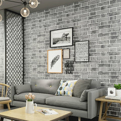 Brick Design Wallpaper Black Vintage 9.5 Meter Roll - astore.in