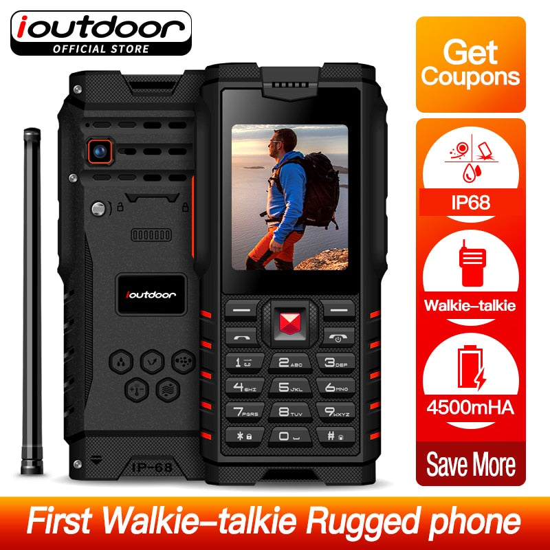 Rugged Phone Walkie Talkie IP68 Waterproof Shockproof  4500mAh - astore.in