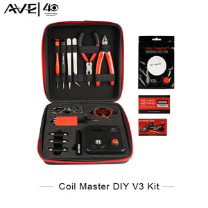100% Original Coil Master DIY Kit V3 All-in-One kit Electronic Cigarette RDA Atomizer coil tool bag Accessories of Vape vaper