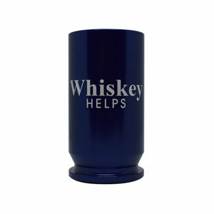WHISKEY HELPS SHOT GLASS