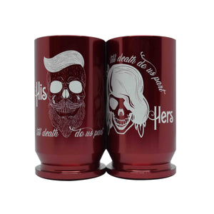 His and Hers (Till death do us part) Shot Glasses - Bottle Openers