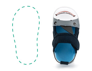 Carl Reef™ Right Sandal Only ikiki® Shoes 4 Blue