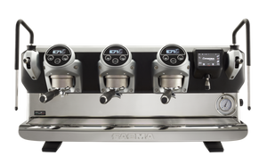 front of FAEMA E71E 3 group professional coffee machine