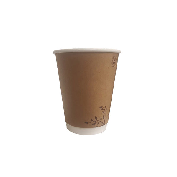 Brown or White 12oz Compostable Cup