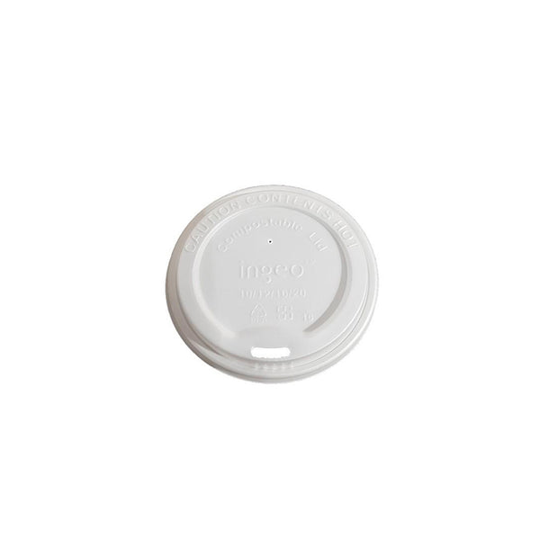 8oz Compostable Lids 80mm for Coffee Cups