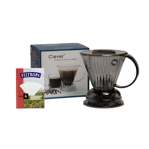 Clever Dripper Coffee Maker Plus Filtropa Filters x100