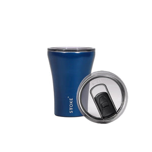 Sttoke 230ml Magnetic Blue Ceramic Reusable Shatterproof Cup
