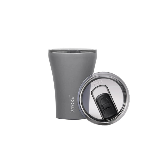 Sttoke 230ml Slated Grey Ceramic Reusable Shatterproof Cup
