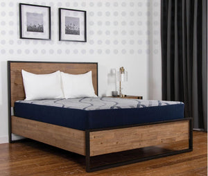 Midtown 12 inch Gel Foam Mattress and bed angle view
