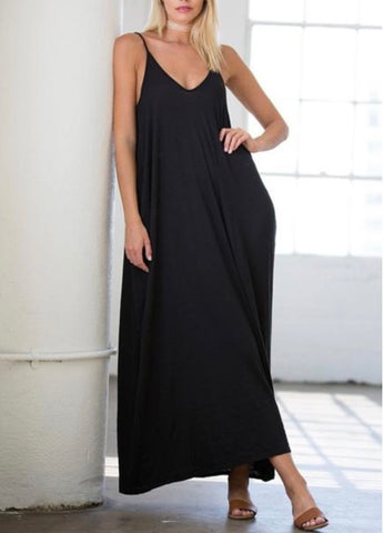 Harem Maxi Dress in Black