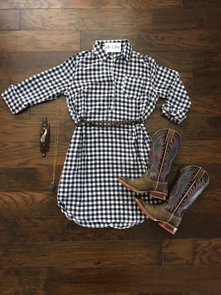Gingham T-Shirt Dress