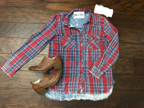 Rodeo Plaid Button-Down