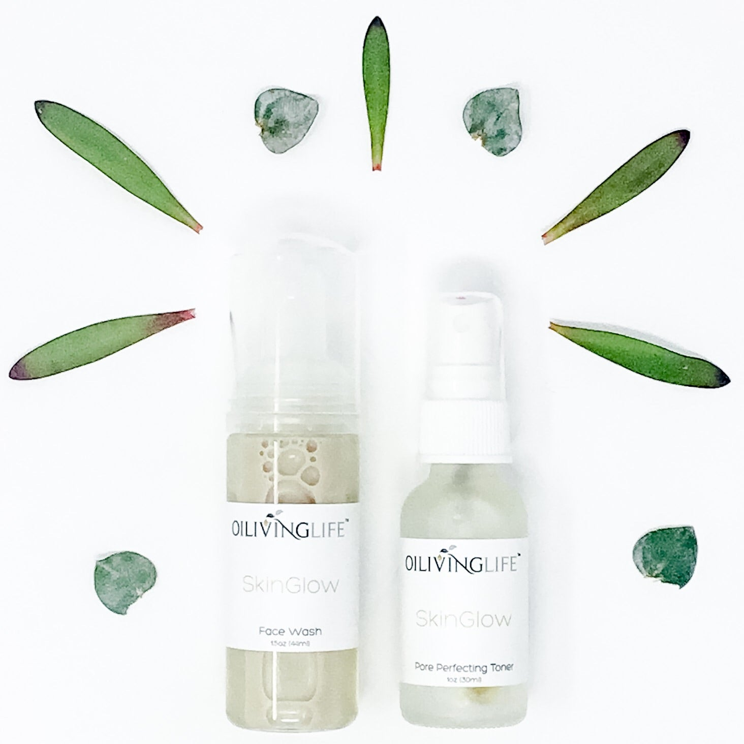 SkinGlow Face Wash & Pore Perfecting Toner Travel Size Kit - OilivingLife