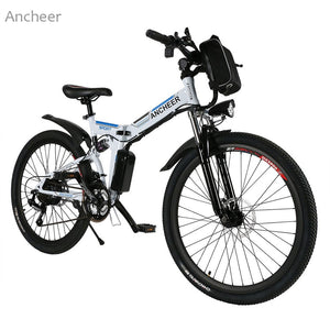 Elifine New Mountain Bike26inch 36V Foldable Electric Power Mountain Bicycle with Lithium-Ion Battery ebike USB Charging Hot