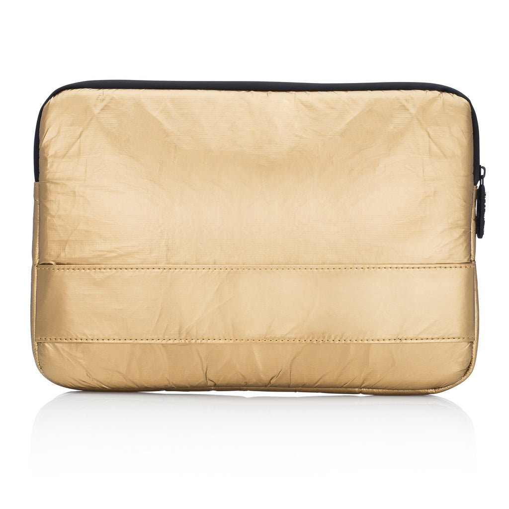 Compact Laptop Computer & Tablet Pack Padded - Shiny Metallic Gold